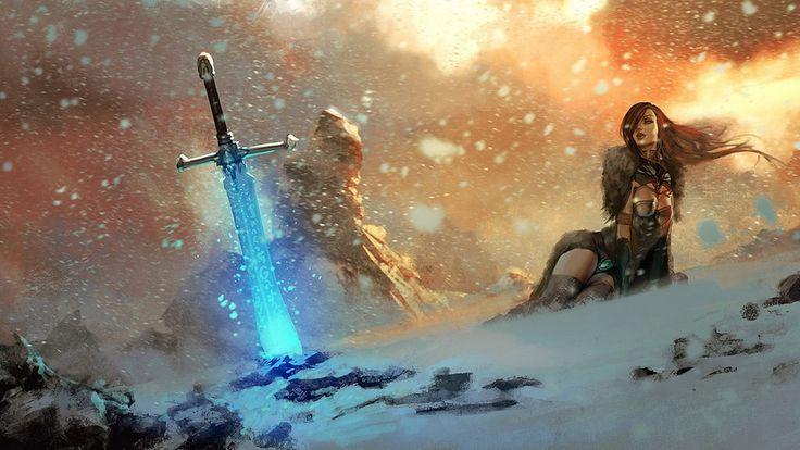 Magic Sword Woman Warrior Wallpaper - http://www.gbwallpapers.com/magic-sword-woman-warrior-wallpaper/ (Magic Sword, Wallpaper, Woman Warrior / Fantasy)