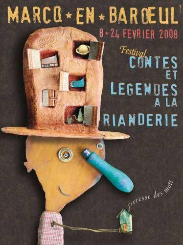 Christian Voltz - Illustration - Affiche - Festival contes et légendes à Marc en Barœul
