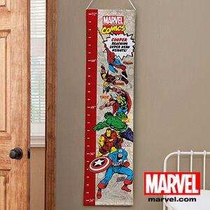Personalized Boys Growth Chart - Classic Marvel Superheros - 12671