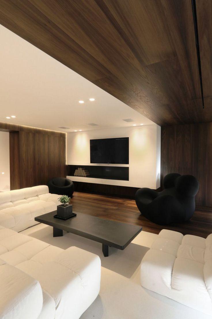 Private house in Penteli/Athens by Omniview #architecture #interior #livingroom #wood #veneer