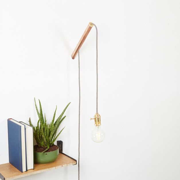 """Copper and Wood Pendant Lighting Kit, perfect for the living room.  Measurements Approximate: Height: 265mm"""" Width: 28mm""""  Thickness: 28mm  Each Kit includes: 1 x Copper Hanger with a wooden end,..."""
