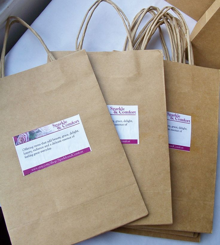 We've always loved the natural brown bag with raffia handles...easy to dress up or keep rustic! Perfect for craft markets or gift giving!