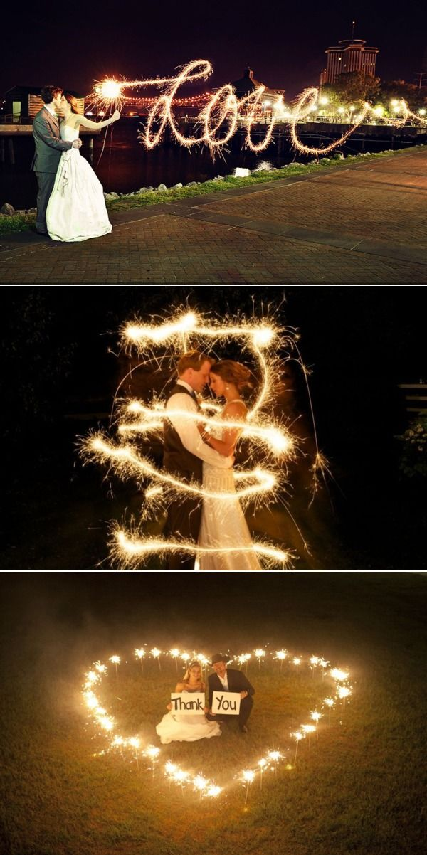 "For the love of sparklers! I really like the ""Love"" photo. I also like the risk of playing with sparklers in an open field in the ""thank you"" photo"