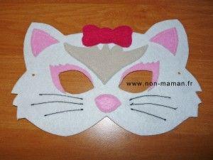 DIY - Fabriquer un masque de chat en feutrine - NON maman !