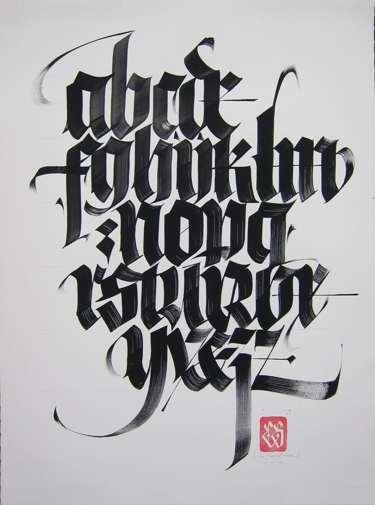 Black Letter alphabet