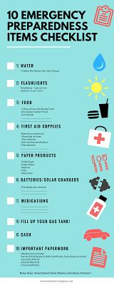 10 Emergency Preparedness Items Every Family Needs for Hurricanes and Snow - Printable Checklist