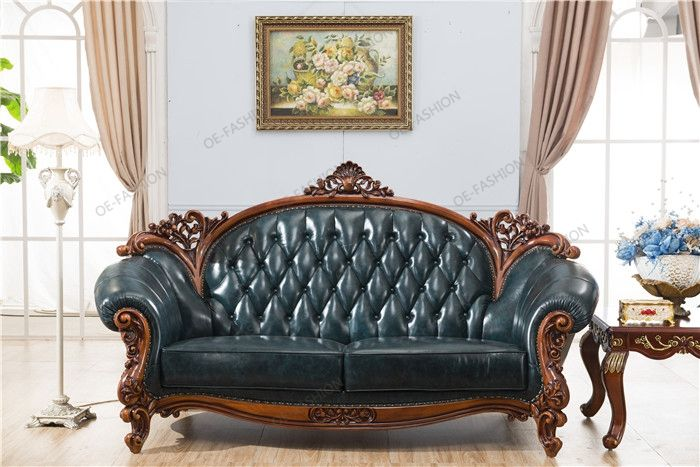 Europe Classic Design Furniture Wood Carved Living Room Leather Sofa Design View Wood Carved Liv Leather Sofa Living Room Classic Furniture Design Sofa Design