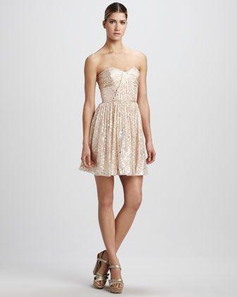 REVEL: Gold Cocktail Dress