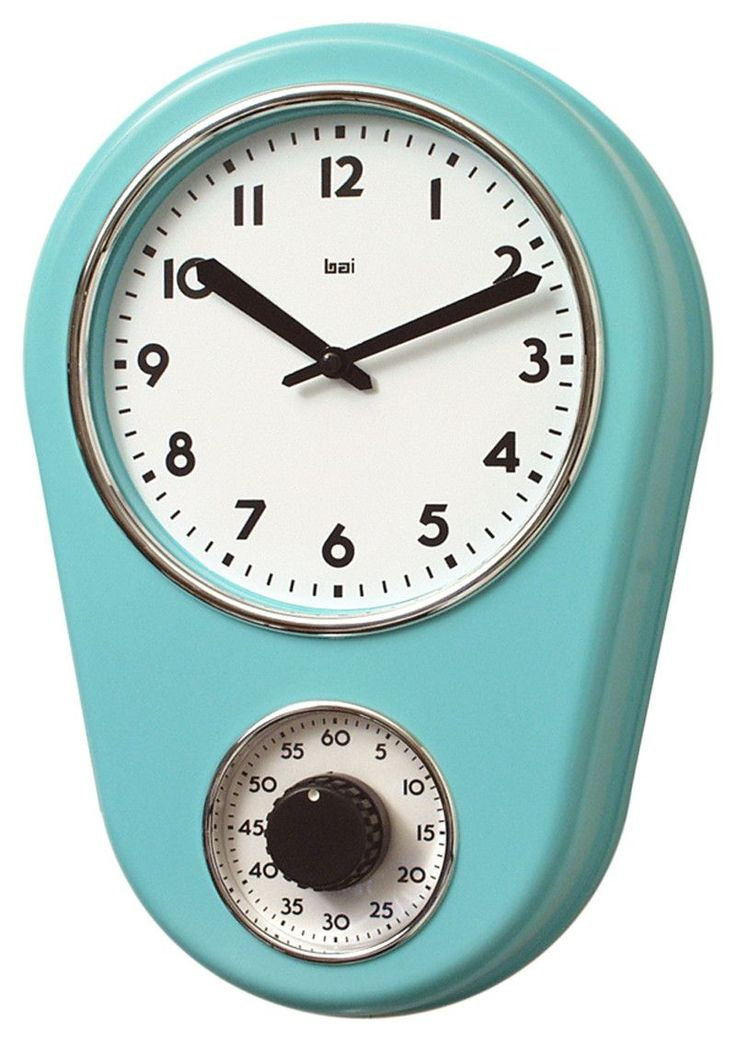"8.5"" Kitchen Timer Retro Modern Wall Clock"