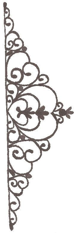 Template/stencil for chocolate decorations