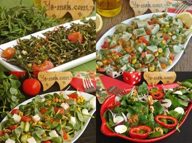 Yağ Yakıcı Yeşil Sebzelerden Diyet Salata Tarifleri Resimli Tarifi - Yemek Tarifleri