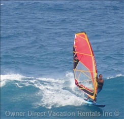 Check out Hookipa Point on North Shore Maui to windsurf, kite board; or to just watch the action from a bluff above the ocean.