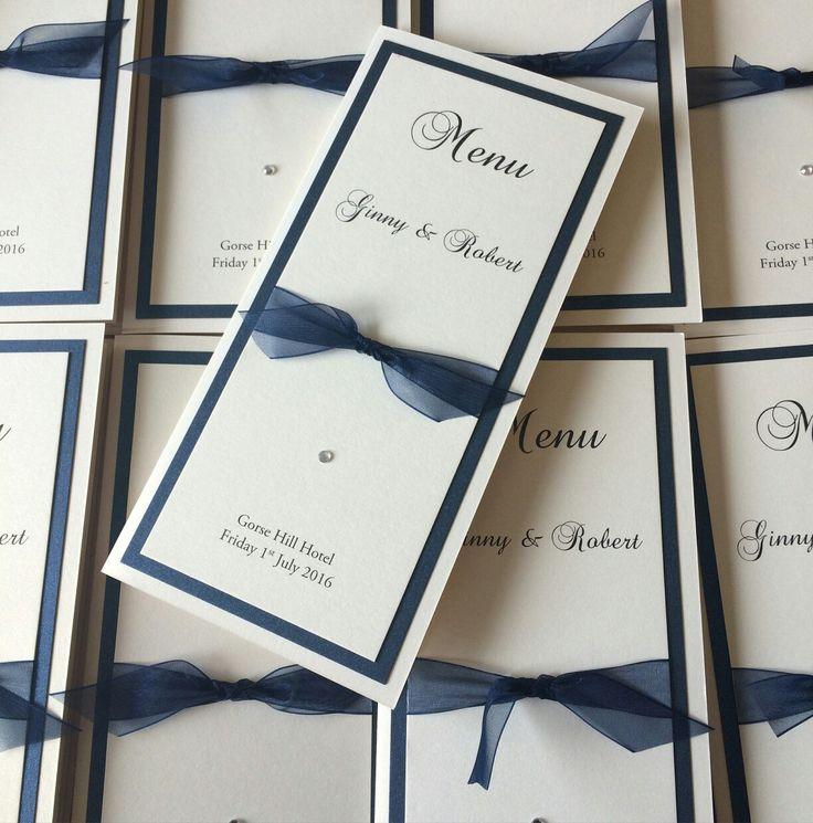 Sit down wedding breakfast invitations