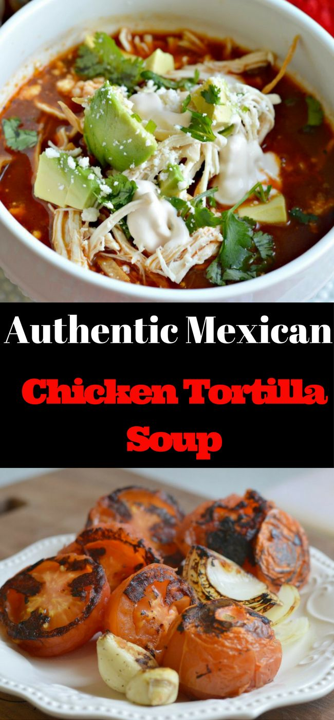 This Authentic Mexican Chicken Tortilla Soup is so easy to make and is delicious. Try it today! (Chipotle Chicken Chili)
