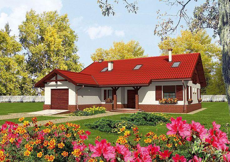 Proiecte de case mici pe un singur nivel - spatii optime - Case practice