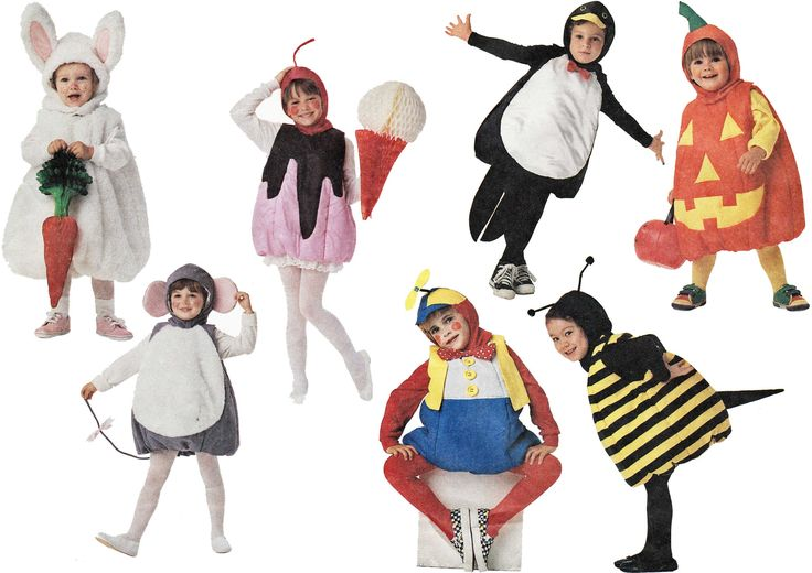 Toddler Halloween Costume Pattern Penguin Pumpkin Humpty Dumpty Bumble Bee Bunny Rabbit Mouse Costume Sewing Pattern McCalls 4529 Size 3 4 by TheOldLeaf on Etsy