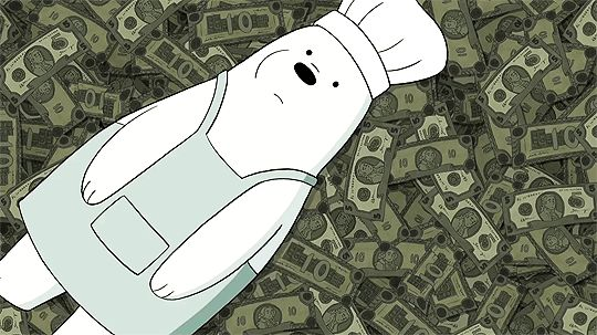 New trendy GIF/ Giphy. money rich we bare bears im rich. Let like/ repin/ follow @cutephonecases