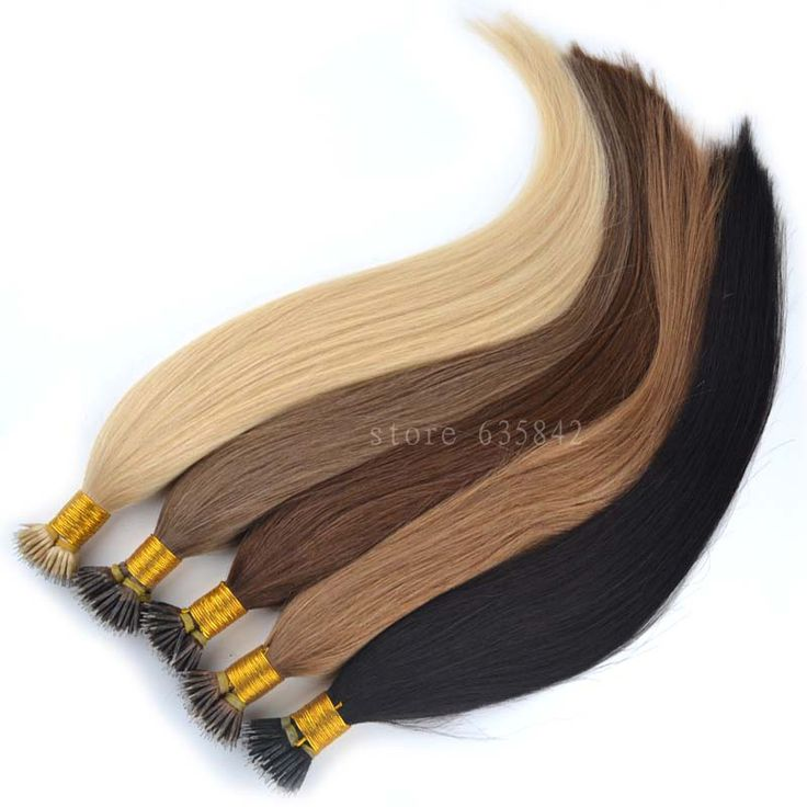 """Micro Loop Nano Ring Hair Extensions 0.5g*100s 18""""/45cm 50g Straight Human Remy Natural Hair Black Brown Blonde available"""