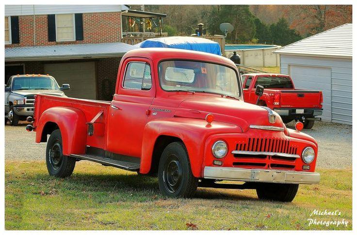 Red International Pickup Truck