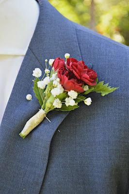 burgundy pixie carnation boutonniere gold Pansy Perfect!