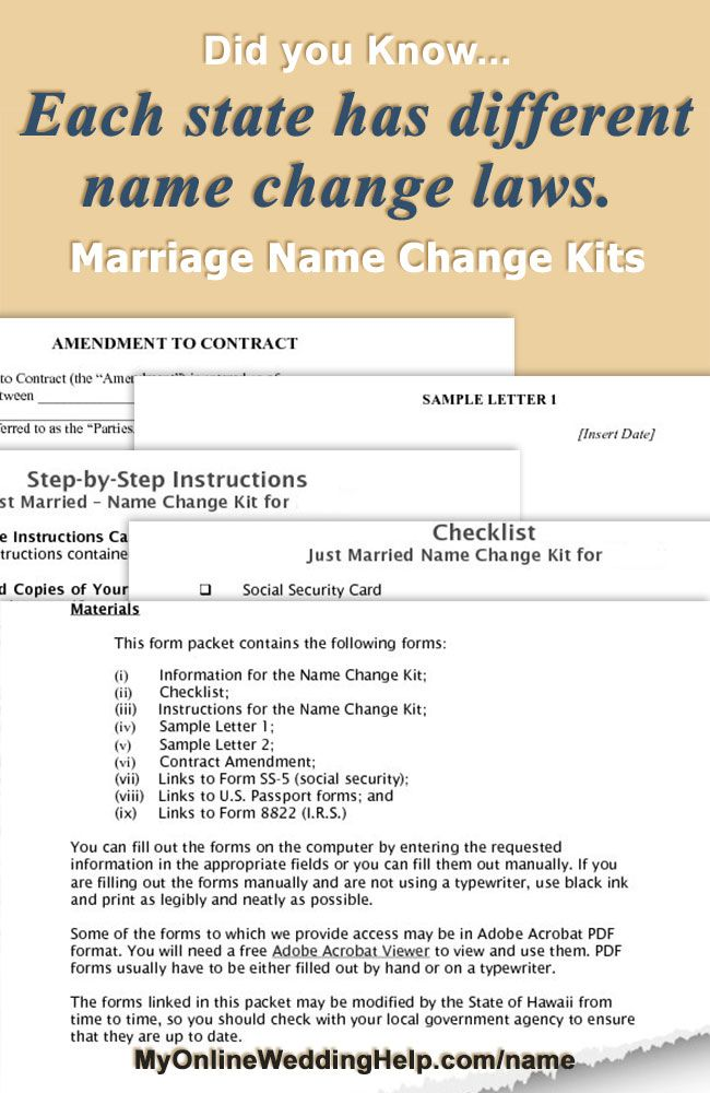 Social Security Name Change Form Marriage Name Change Kits On My