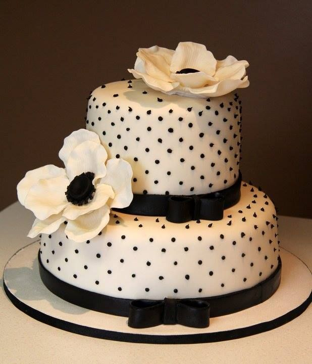 Audrey Hepburn Theme Cake with sugar paste flowers~ all edible