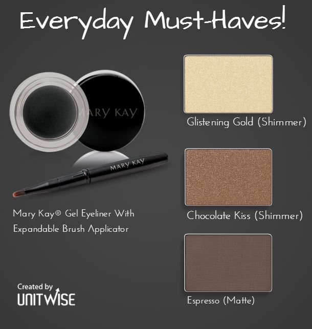 Everyday Mary Kay staples for a subtle daily smokey eye! www.marykay.com/geiger62 361-443-1424