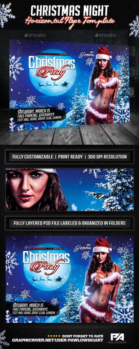 104 best ideas about flyer design templates flyer christmas night party horizontal flyer template