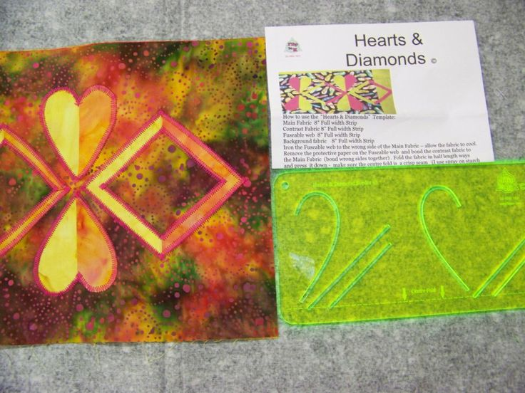 Flip la' K Hearts and Diamonds Templates. won't this make a really interesting border on a quilt?