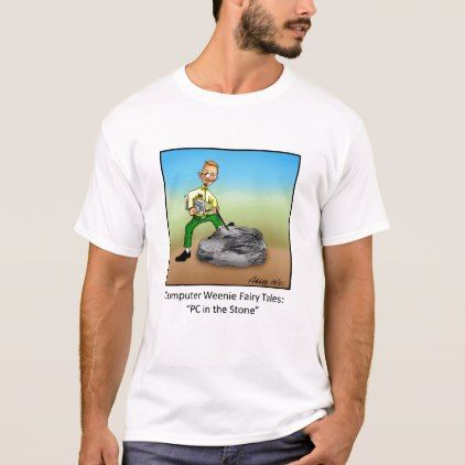 Funny Computer Cartoon Tee Shirt - #customizable create your own personalize diy