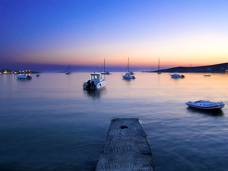 Parikia Bay, Paros Cyclades Greece
