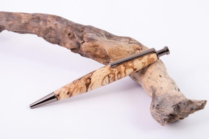Holz-Klick-Kugelschreiber-Gestockte-Buche