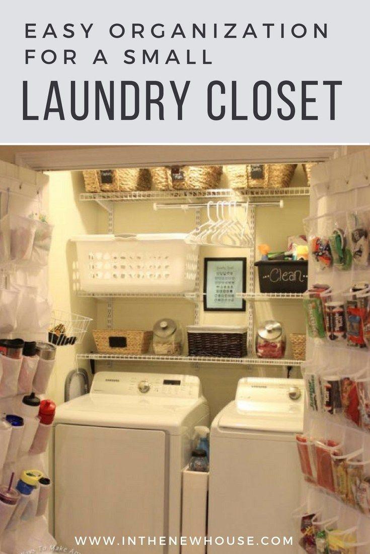 How To Organize A Small Laundry Closet Small Laundry Closet