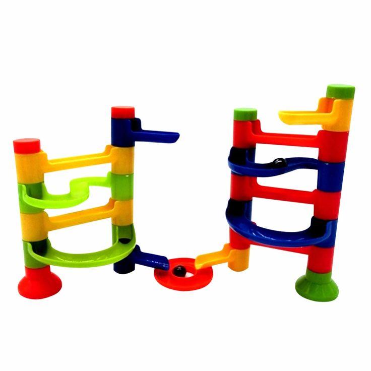 DIY Construction Marble Race Run Maze Balls Track Building Blocks Children's Educational Kid's Orbit Ball Toy  Assemblage Toys