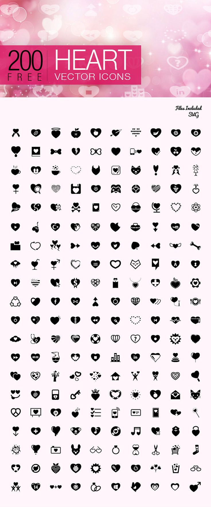 200 Free Valentines Day Icons