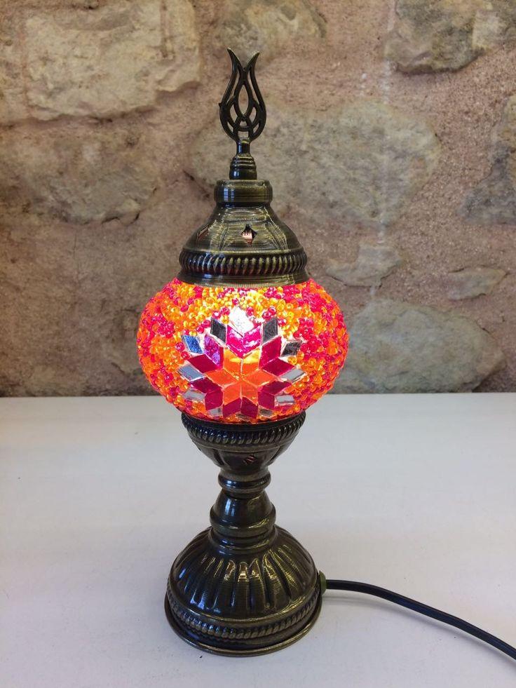 "TURKISH MOSAIC TABLE LAMP, 25 cm (9.8"")"