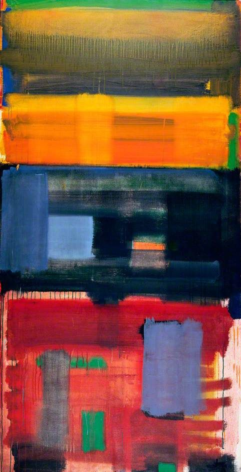 June Horizon  by Patrick Heron       Date painted: 1957  Oil on canvas, 182.5 x 92 cm  Collection: The Hepworth Wakefield   Gallery Walk, Wakefield, West Yorkshire, England, WF1 5AW