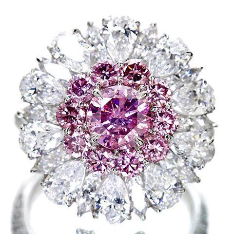 Jewel Planet 0.928ct FANCY VIVID PUPLISH PINK #pinkdiamond#ring…