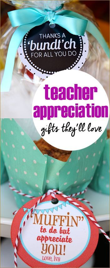 """10 Teacher Appreciation Gifts.  Fun ways to say """"Thank You"""" to teachers that they'll actually enjoy!"""