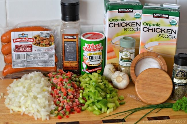 chicken sausage gumbo ingredients
