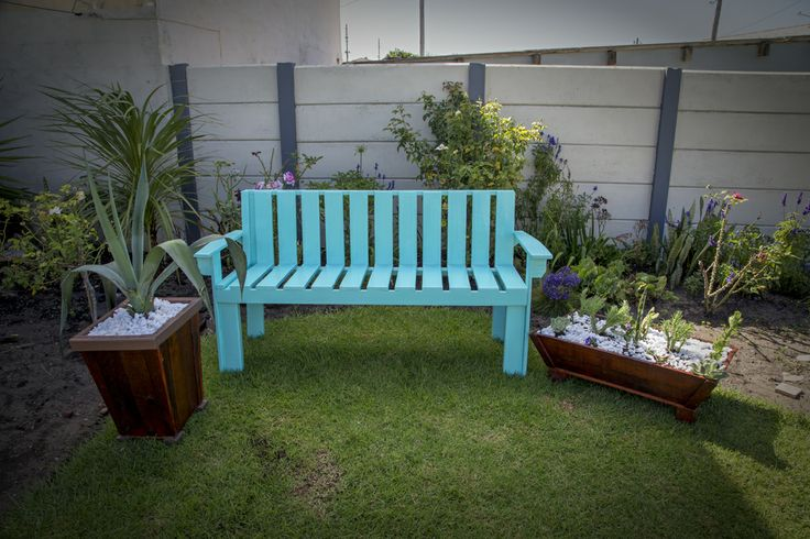 Garden bench created from reclaimed wood