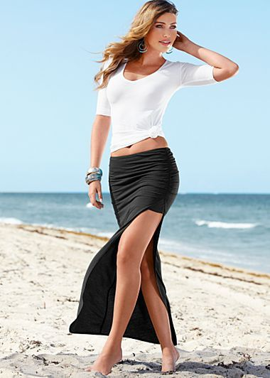 17 Best images about Slit Skirts and Dresses on Pinterest | Max ...