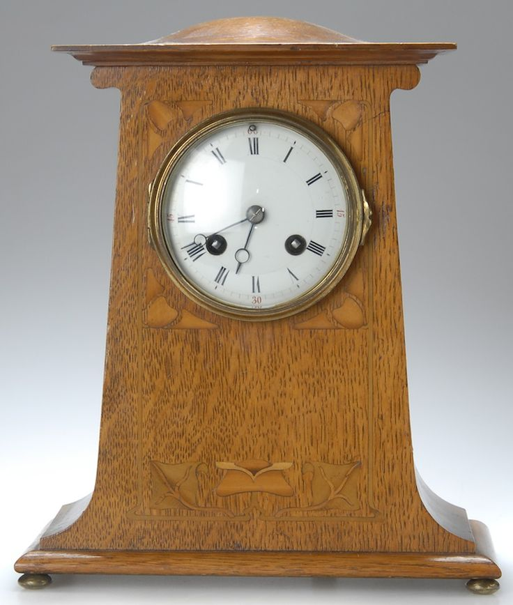 77 best images about arts and crafts movement clocks on for Arts and crafts mantle clock
