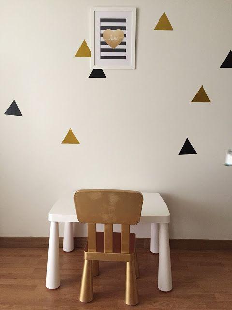 Quarto branco preto e dourado | Shopping for my babies