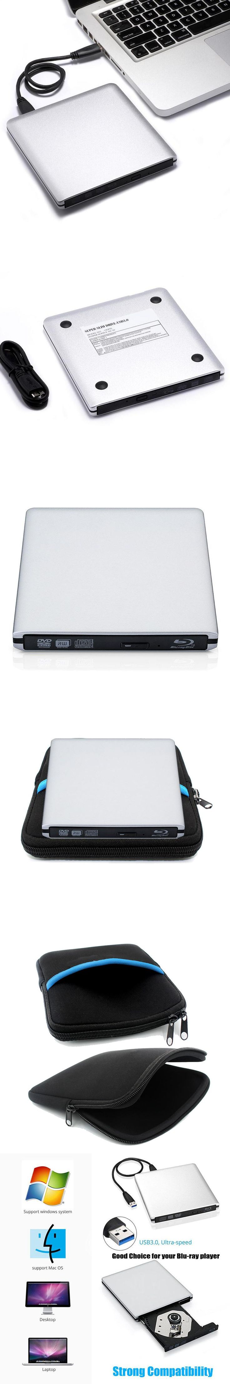 Blu-ray drive External USB 3.0 DVD RW Optical drive Combo CD/DVD ...