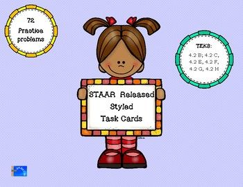 72 Task Cards over TEKS 4.2 that were seen on the 2016 STAAR Released Test.4 Supporting standards and 6 Readiness standards are present over the 72 task cards.Common Core Aligned also: CCSS.4.NBT.A.2; CCSS.4.NFB.3.A; CCSS.4.NF.B.3.B; CCSS.4.NF.B.3.D: CCSS