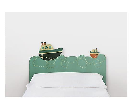 Testiera letto in legno di pino Basquitos, 105x115x5 cm