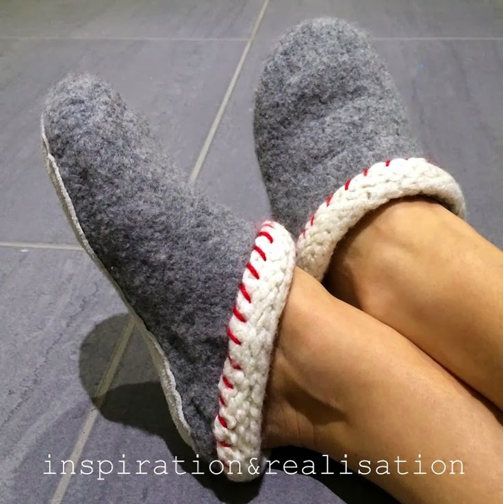 Follow the instructions and make this warm and comfy clogs.