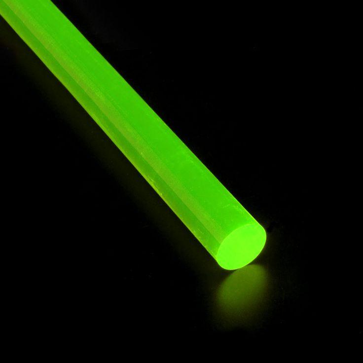 VARILLA METACRILATO FLUORESCENTE VERDE - Varillas de metacrilato fluorescente de cuatro colores y varios diámetros. Para infinitas aplicaciones como joyería, juguetería, decoración, iluminación, ...