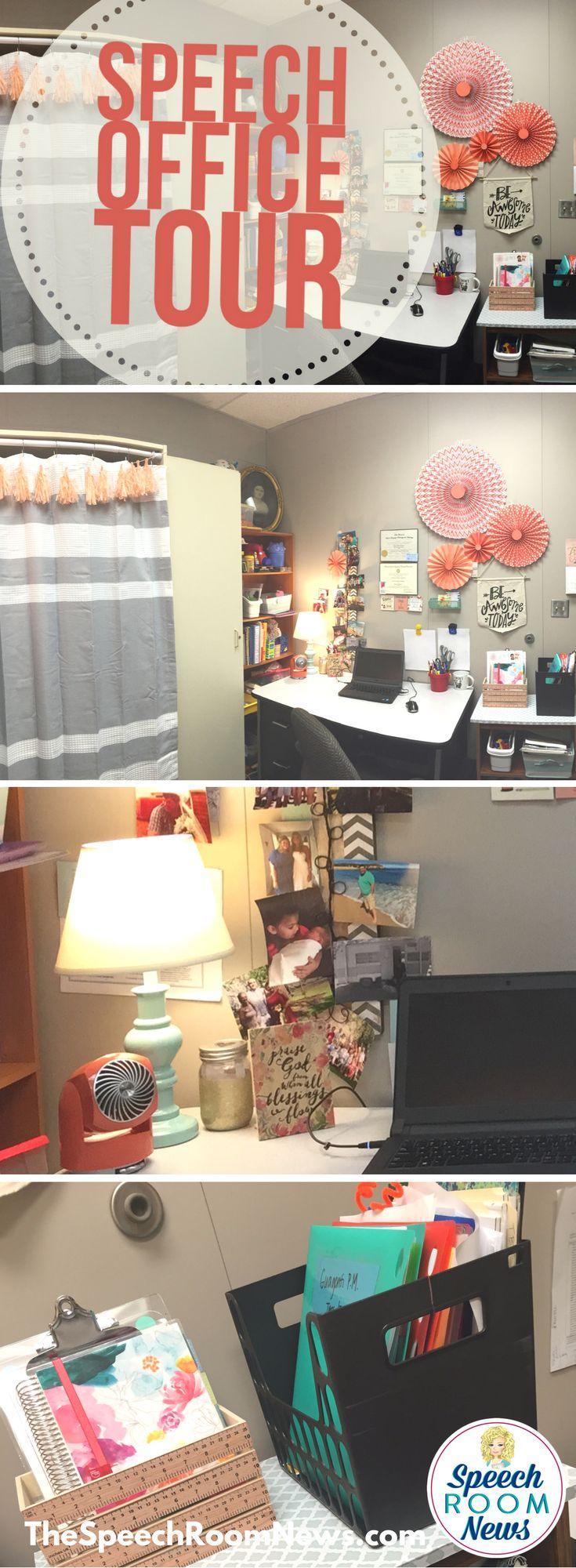 Speech Therapy Office Tour - Speech Room News', Jenna Rayburn